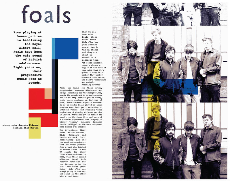 The Foals / 1883 Magazine, May 2013