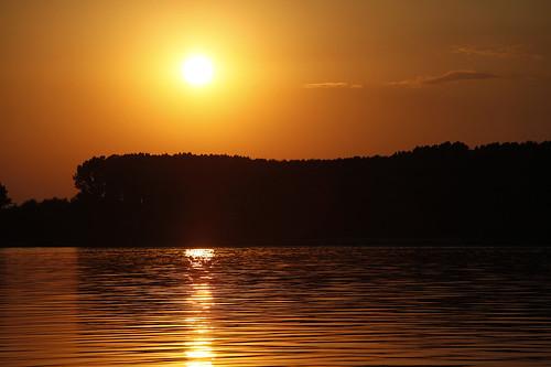 sunset romania danube calarasi