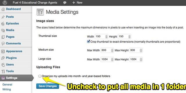 WordPress Media Folder Settings - Uploaded with Skitch ...