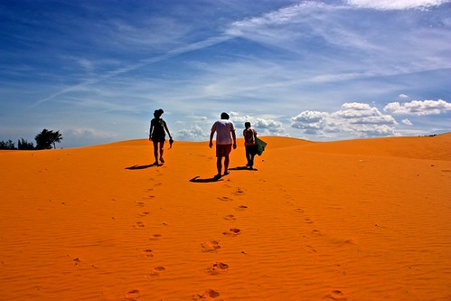 searching for a good viewpoint of the dunes