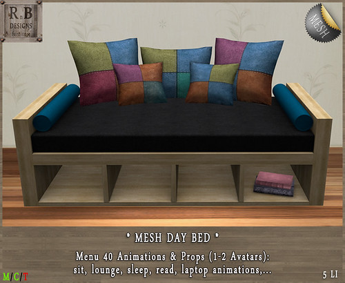 PROMO ! *RnB* Day Bed - Patchwork - 40 Anims (c)PIC