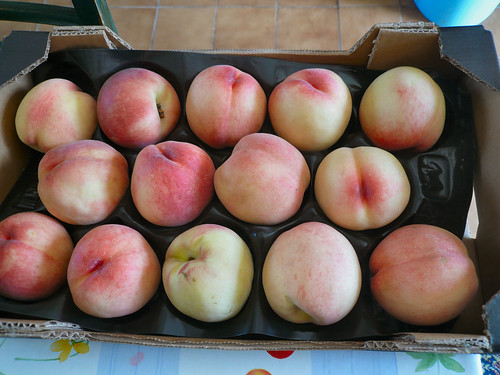 Tray of Peaches