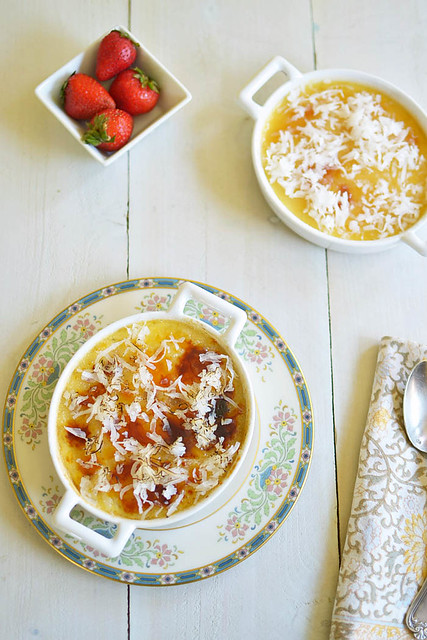 Coconut Creme Brulee via LittleFerraroKitchen.com