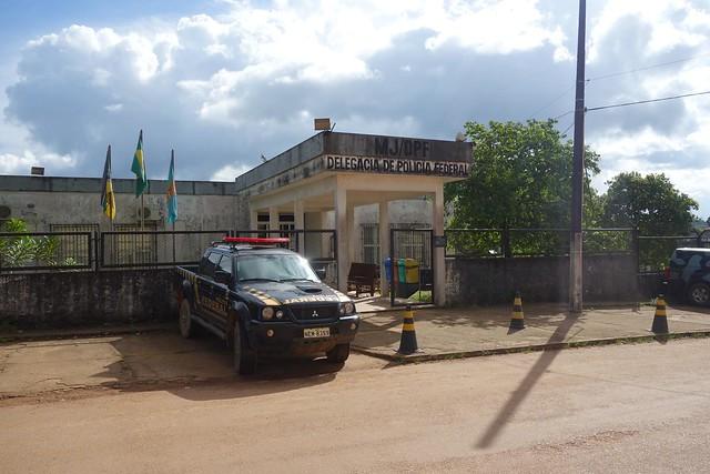 Edificio da Policia Federal em Oiapoque Brasil
