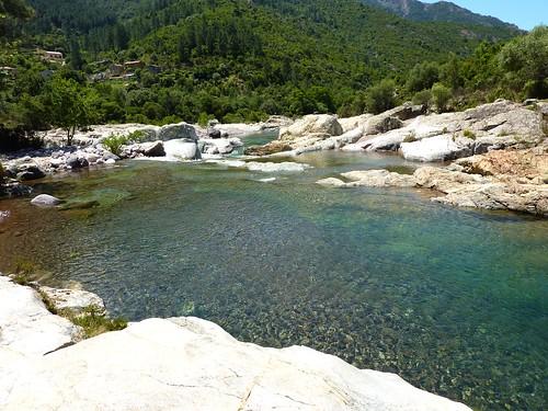 Vasques de Barghjana: point de départ du sentier de la Candela