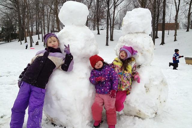 Memorial Field Snow Fun (3)