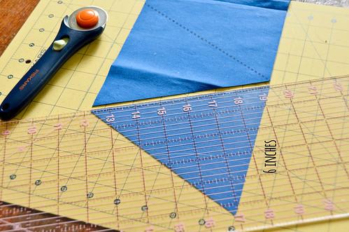 """Step 11: Cut 6"""" Triangle"""
