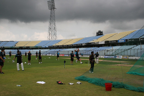 BLACKCAPS train under dark skies at Chittagong