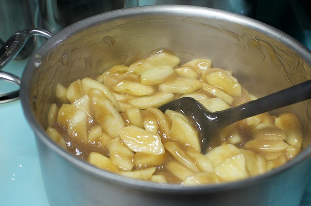 apples becoming pie filling