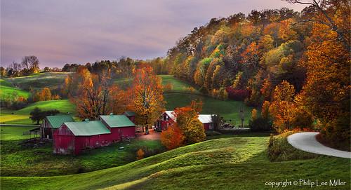 sunset nature landscape vermont d800 mapletrees countryroads jennefarm rollingfields famousbarns