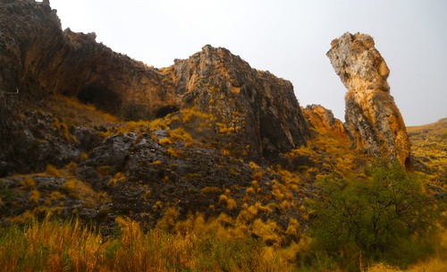 Amud Cave, photographed in the rain