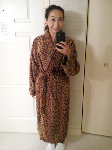 Leopard Robe found at 70 Park Ave hotel