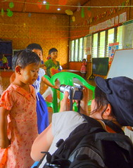 Maing Thouk pre-school - taking pictures 1