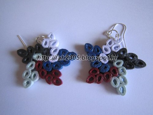 Handmade Jewelry - Paper Quilling Star Earrings (3) by fah2305