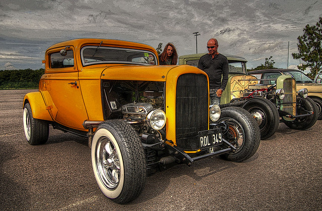 Yellow Deuce Coupe + Poster Edges
