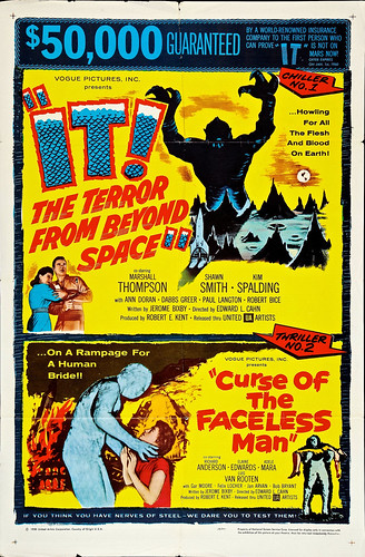 It! The Terror from Beyond Space/Curse of the Faceless Man Combo (United Artists, 1958). One Sheet (27
