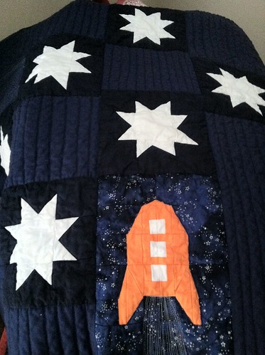 Space quilt, post washing