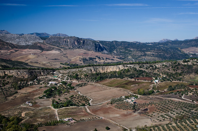The hills and mountains surrounding Ronda, Spain.