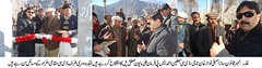 Suspension bridge being inaugurated in Mayun, Ghizer