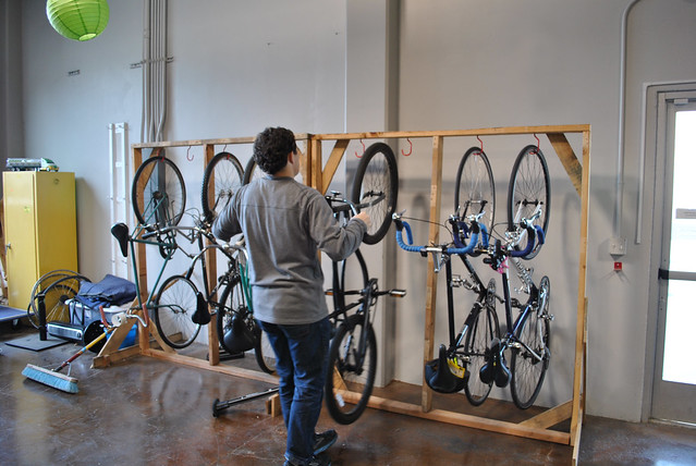 BYOBR Will hanging up bikes