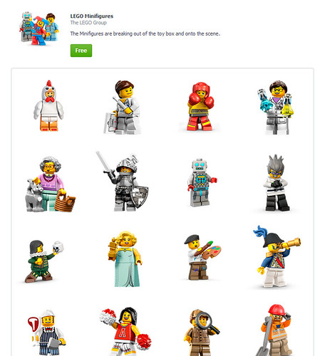 LEGO Minifigures Facebook Messenger Stickers