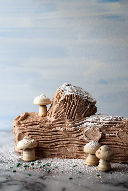 Icebox Yule Log Cake / joy the baker