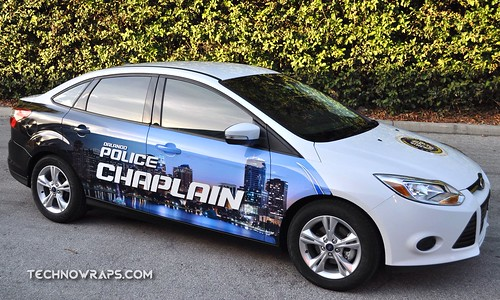 Orlando Police Department car wrap by TechnoSigns