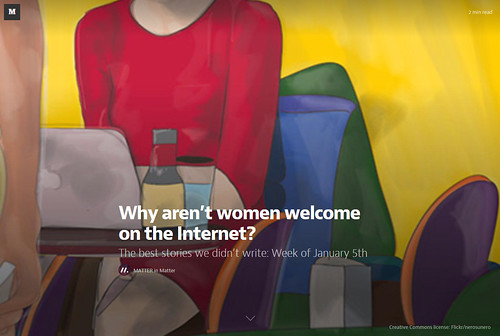 Why aren't women welcome on the Internet? cover by nerosunero by nerosunero