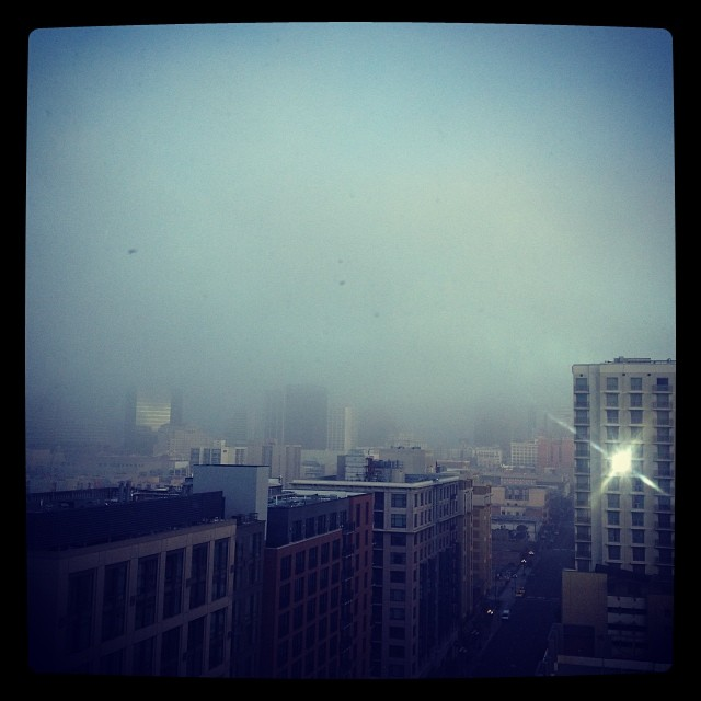 Stay foggy, San Diego. #latergram #tnna