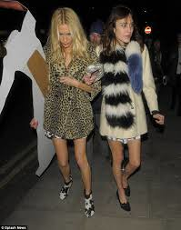Poppy Delevingne Leopard Print Coat Celebrity Style Women's Fashion