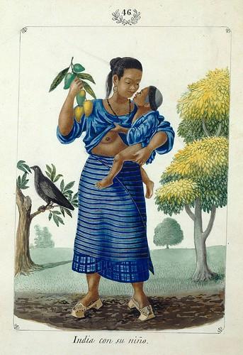 016-India con su niño-Vistas de las Yslas Filipinas y Trages…1847-J.H. Lozano- Biblioteca Digital Hispánica