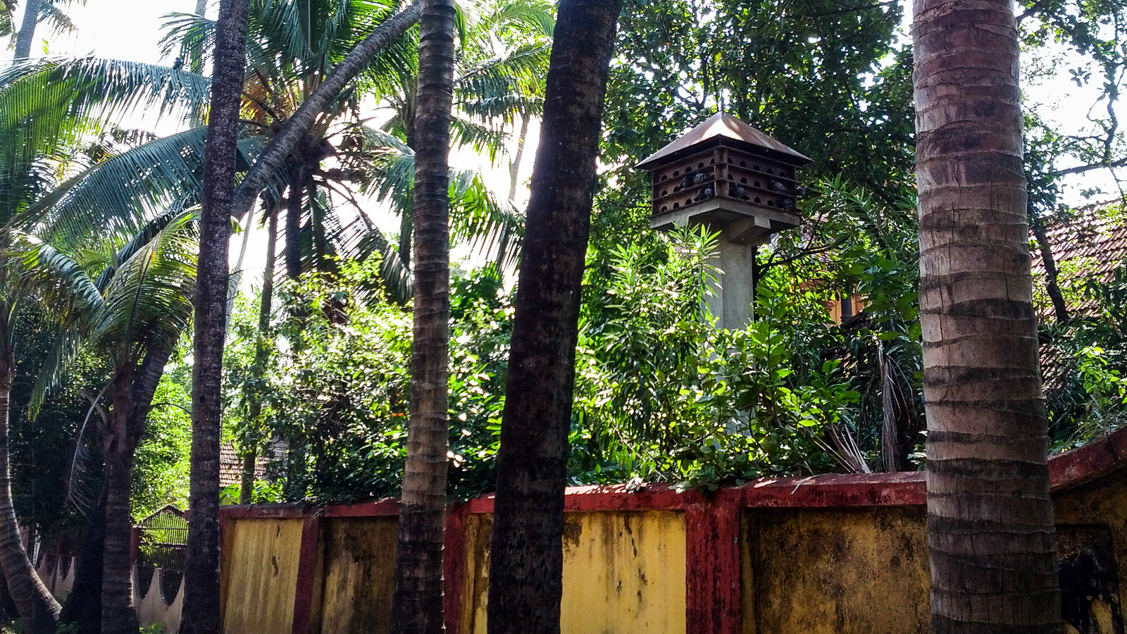 Bird house at the Thirumala Devaswom Temple Complex
