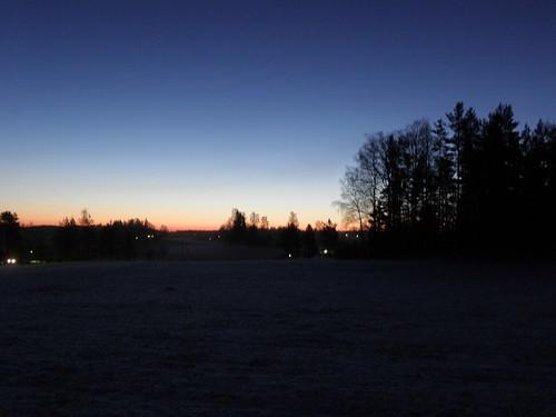 blue winter light red sky cloud brown white snow black green nature sunrise landscape grey forrest