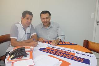 Claudio Modesto, educador e administrador de empresas, em visita à sede estadual do Solidariedade-SP