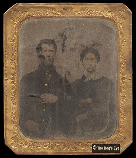 Civil War - Union Soldier And His Wife:  Tintype c.1863