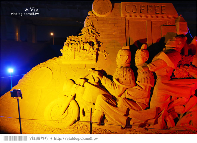 【2014台灣燈會在南投】南投沙雕燈會~夜間點燈好浪漫!還有精彩光雕秀9