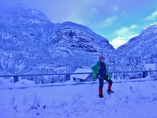 Climbergirl at Ouray Ice Park