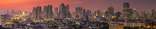 Panoramic view City of Bangkok