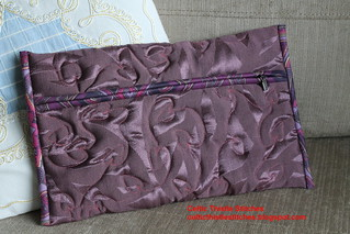 Completed quilted pouch