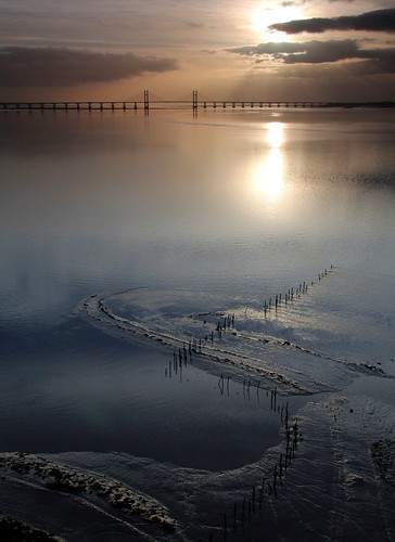 bridge sunset cloud water river coast crossing tide estuary severn 1200 coastline f18 m4 mudflat aust severnbeach m48
