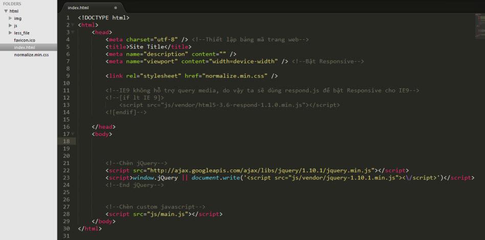 HTML Starter Template