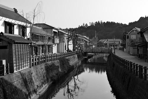 佐原の風景 川と建物 by leicadaisuki