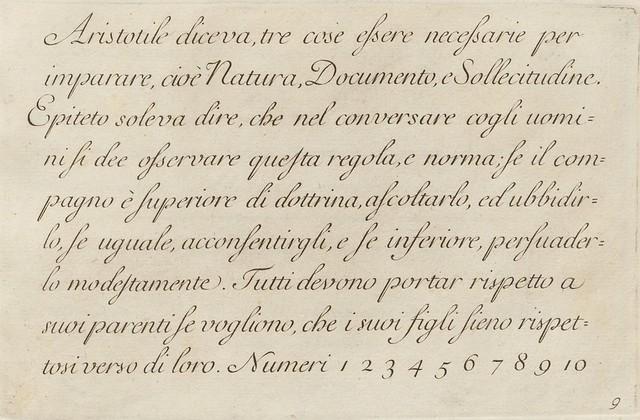 La penna da scrivere - Francesco Polanzani, 1768 h