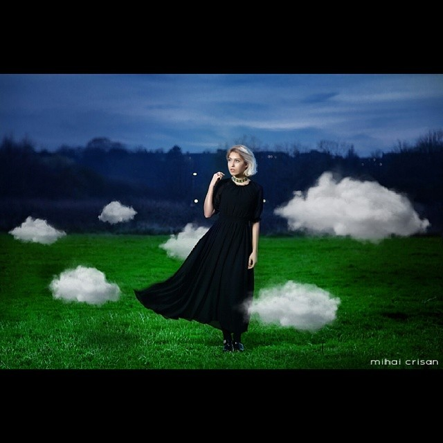 #surreal #photography #london #retouching #flash #clouds #igers #concept #model