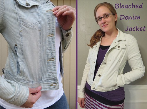 Bleached Denim Jacket - Before & After