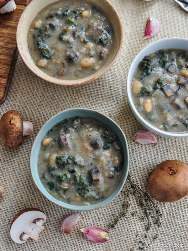 Creamy Mushroom & Kale Soup