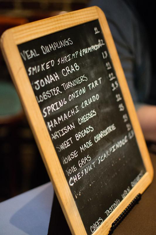 Menu Board at Sidney Street Cafe
