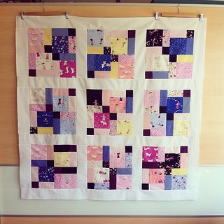 Finished quilttop! I've used 2 charmpacks #hellopetal from #aneelahoey