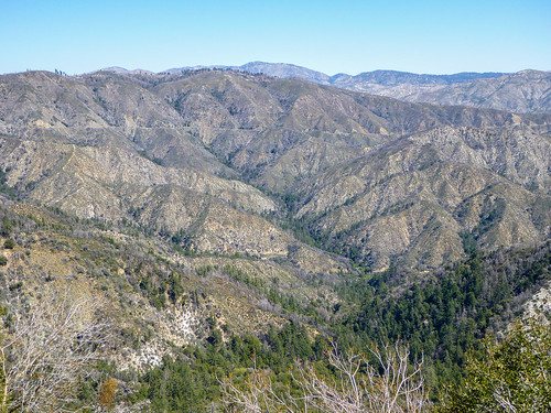 Looking down on West Fork Road and across to Angeles Crest Highway