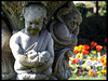 Cherubs & Tulips by Ronald Hackston